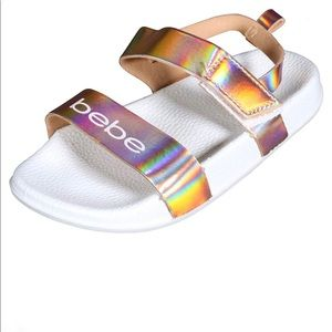 NWT Bebe Holographic Sandals